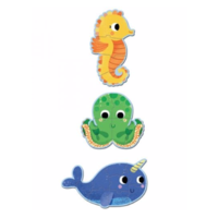 thumb-3 puzzles animals in the sea - 4, 6 and 9 pieces-2