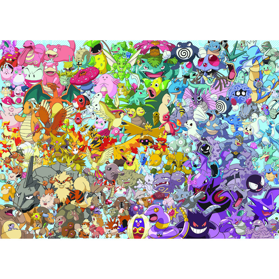 Pokemon - Challenge - puzzel van  1000 stukjes-1