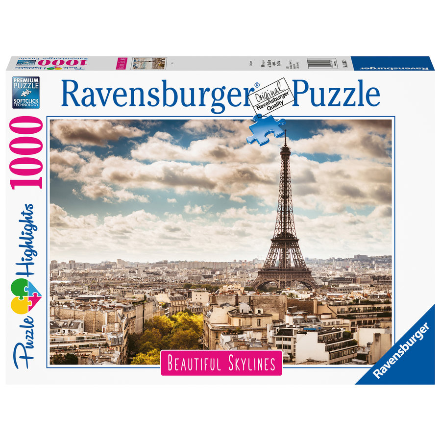 The skyline of Paris - puzzle of 1000 pieces-2