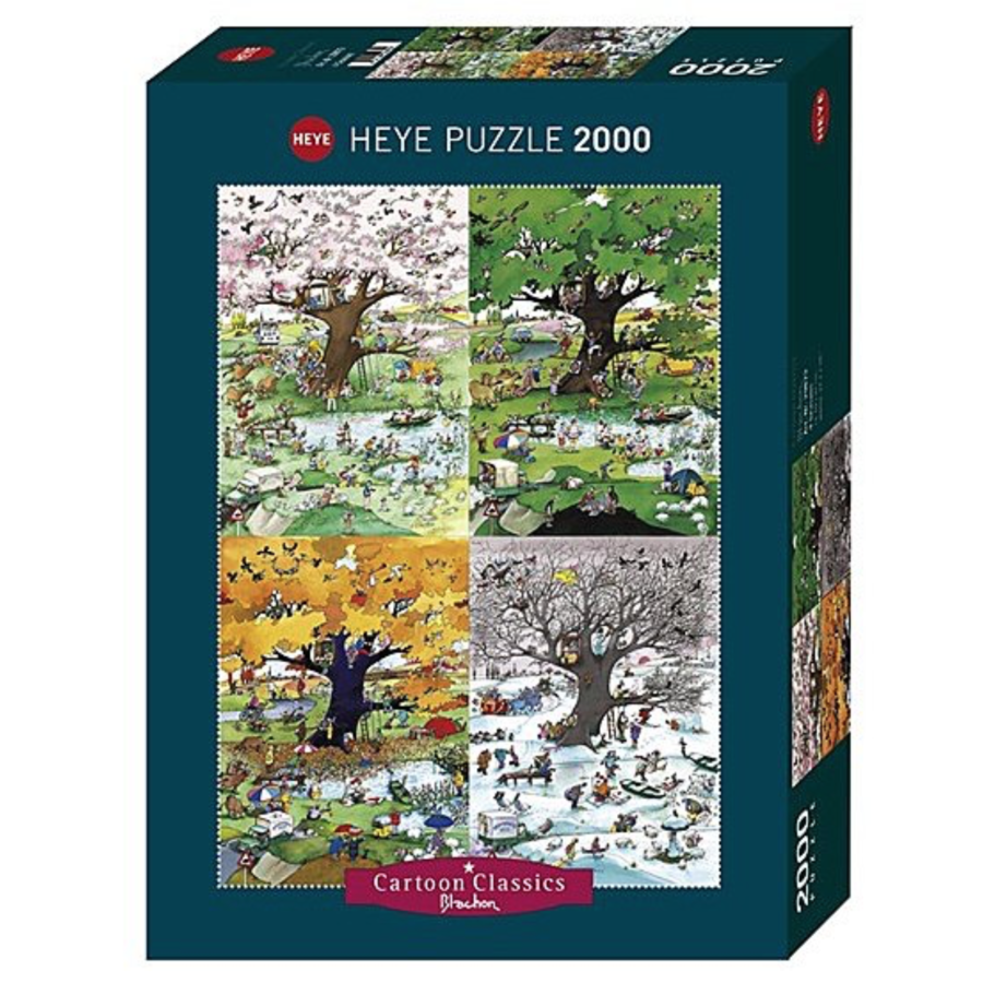 4 seizoenen - puzzel van 2000 stukjes-2