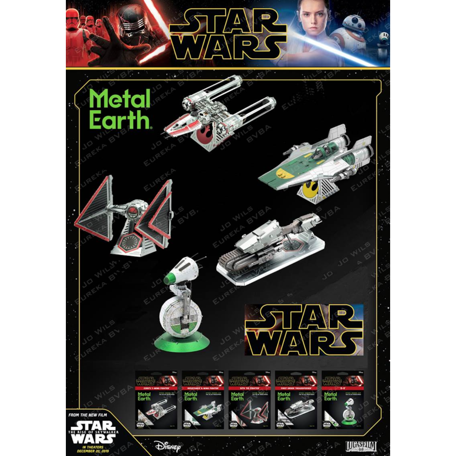 Star Wars - Resistance A-Wing Fighter - 3D puzzel-7