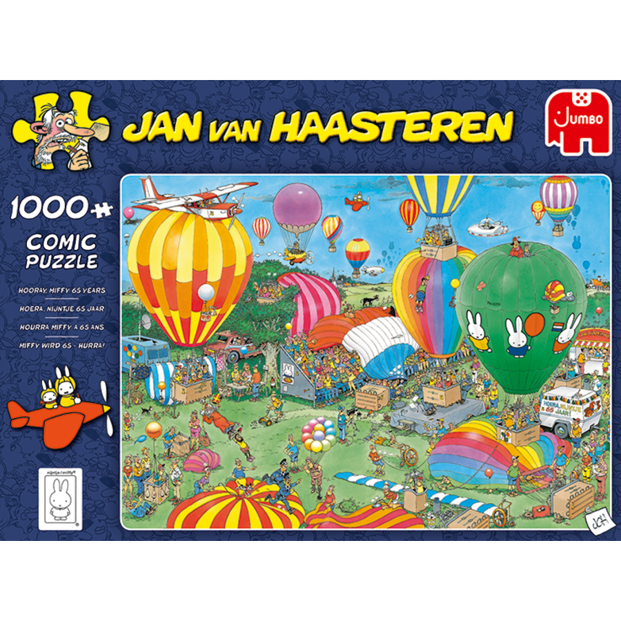 PRE-ORDER - Hooray Miffy 65 years - JvH - 1000 pieces-1