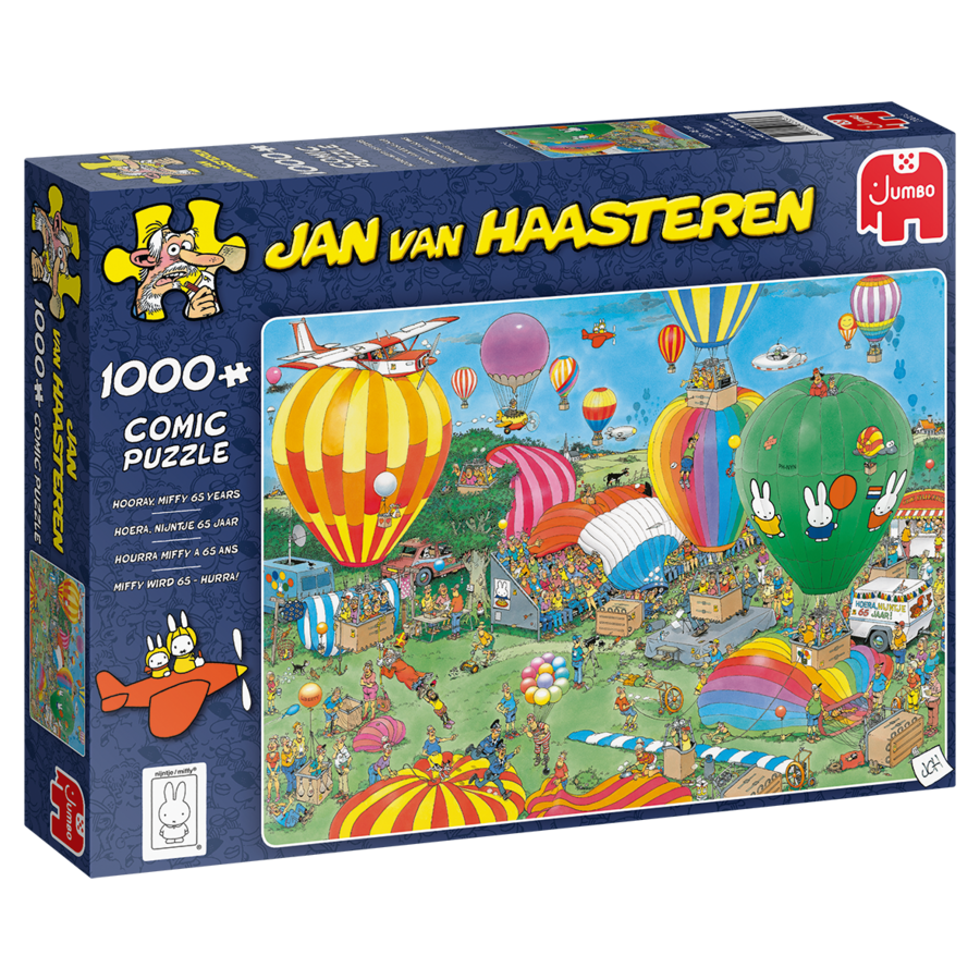 PRE-ORDER - Hooray Miffy 65 years - JvH - 1000 pieces-3