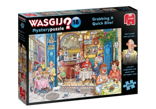 Wasgij Mystery 18 - Grabbing a Quick Bite! - 1000 pieces