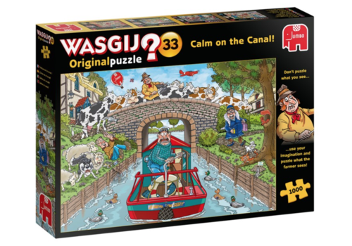 Jumbo Wasgij Original 33 - Calm on the Canal! - 1000 pieces