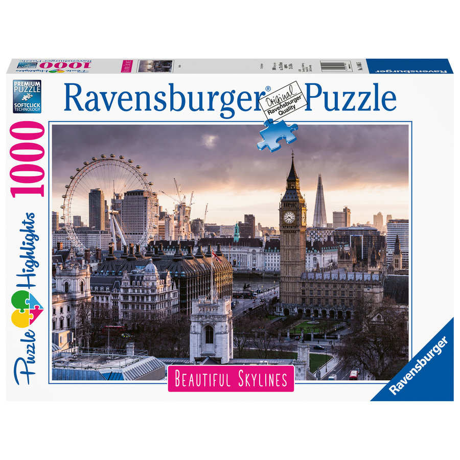 The skyline of London - puzzle of 1000 pieces-1