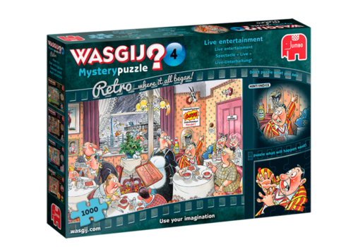 Wasgij Mystery 4 Retro - 1000 pieces