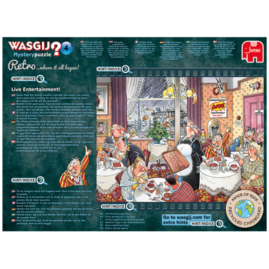 Wasgij Mystery 4 Retro - Live entertainment - 1000 stukjes-3