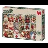 thumb-Vintage Santa's - puzzel van 2000 stukjes-2
