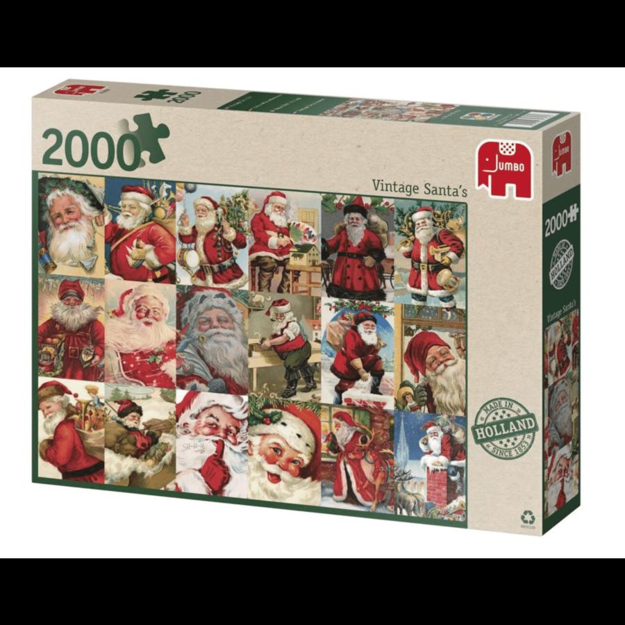 Vintage Santa's - puzzel van 2000 stukjes-2