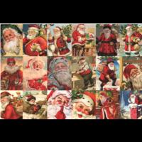 thumb-Vintage Santa's - puzzel van 2000 stukjes-1