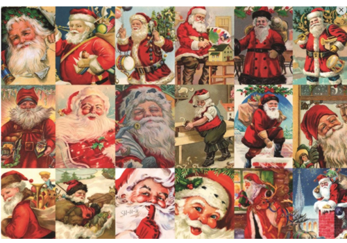 Vintage Santa's - 2000 stukjes