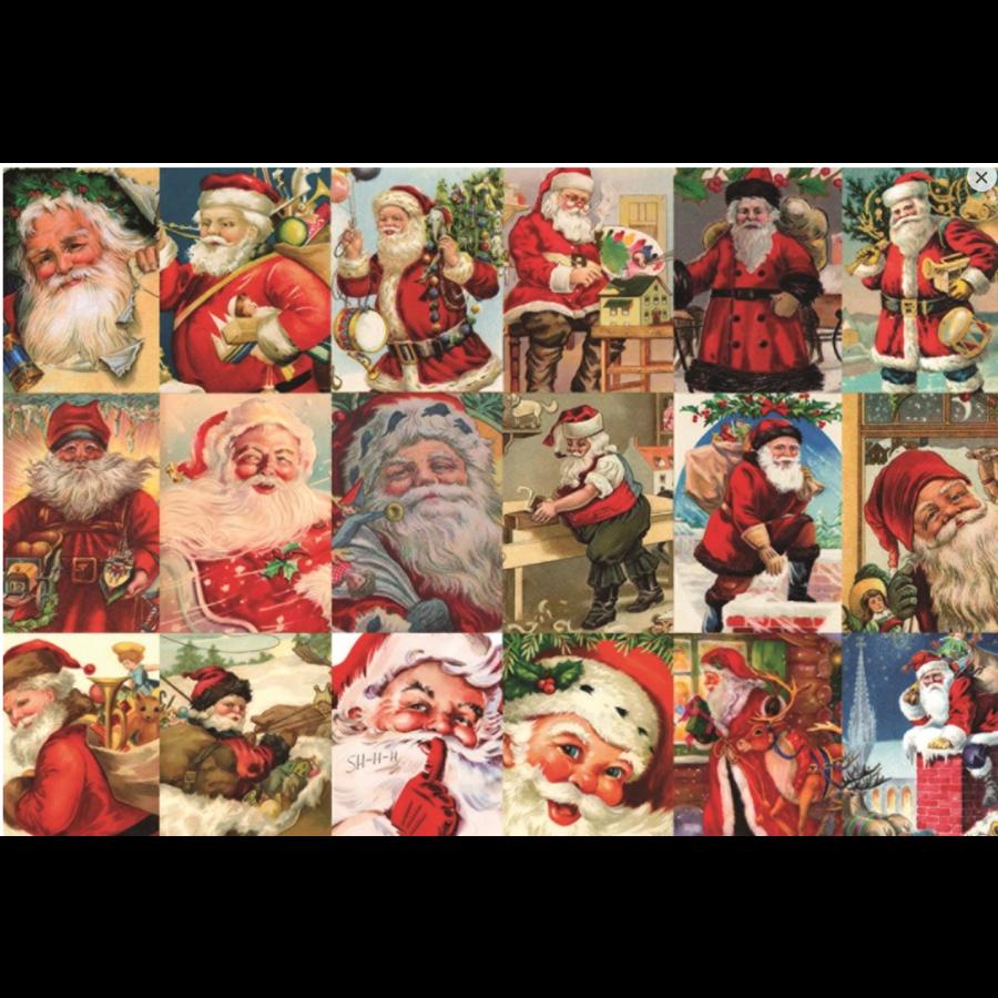 Vintage Santa's - puzzle of 2000 pieces-1