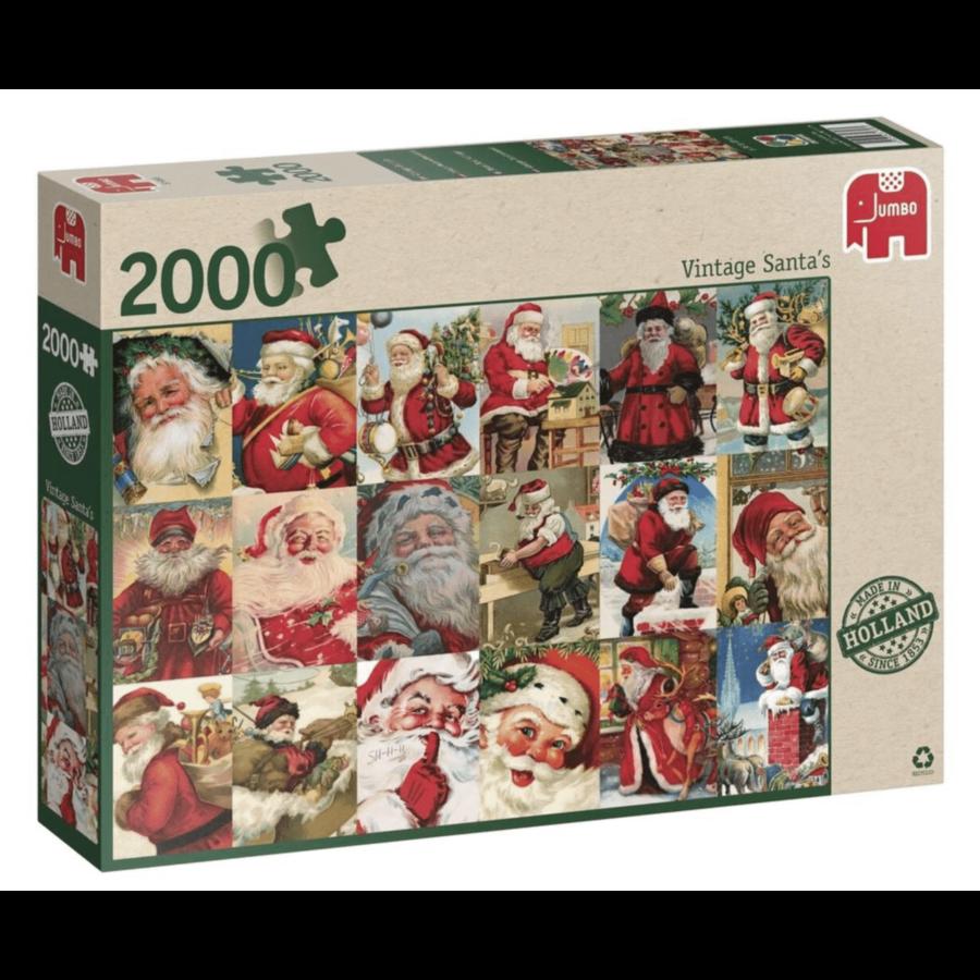 Vintage Santa's - puzzle of 2000 pieces-3