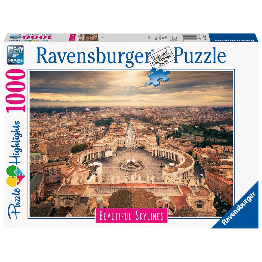 De skyline van het Vaticaan - 1000 stukjes-2