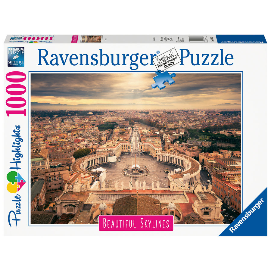The skyline of the Vatican - puzzle of 1000 pieces-2