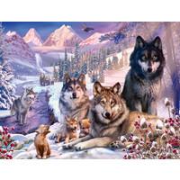 thumb-Wolven in de sneeuw - puzzel van 2000 stukjes-1