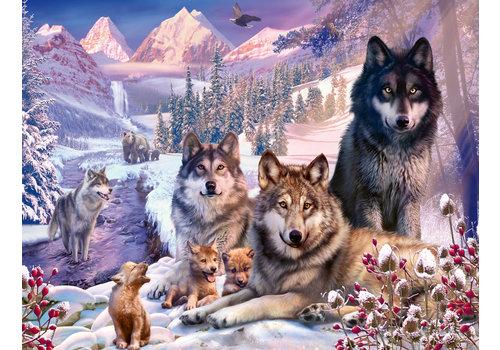 Wolven in de sneeuw - 2000 stukjes