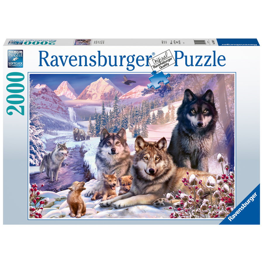 Wolven in de sneeuw - puzzel van 2000 stukjes-2