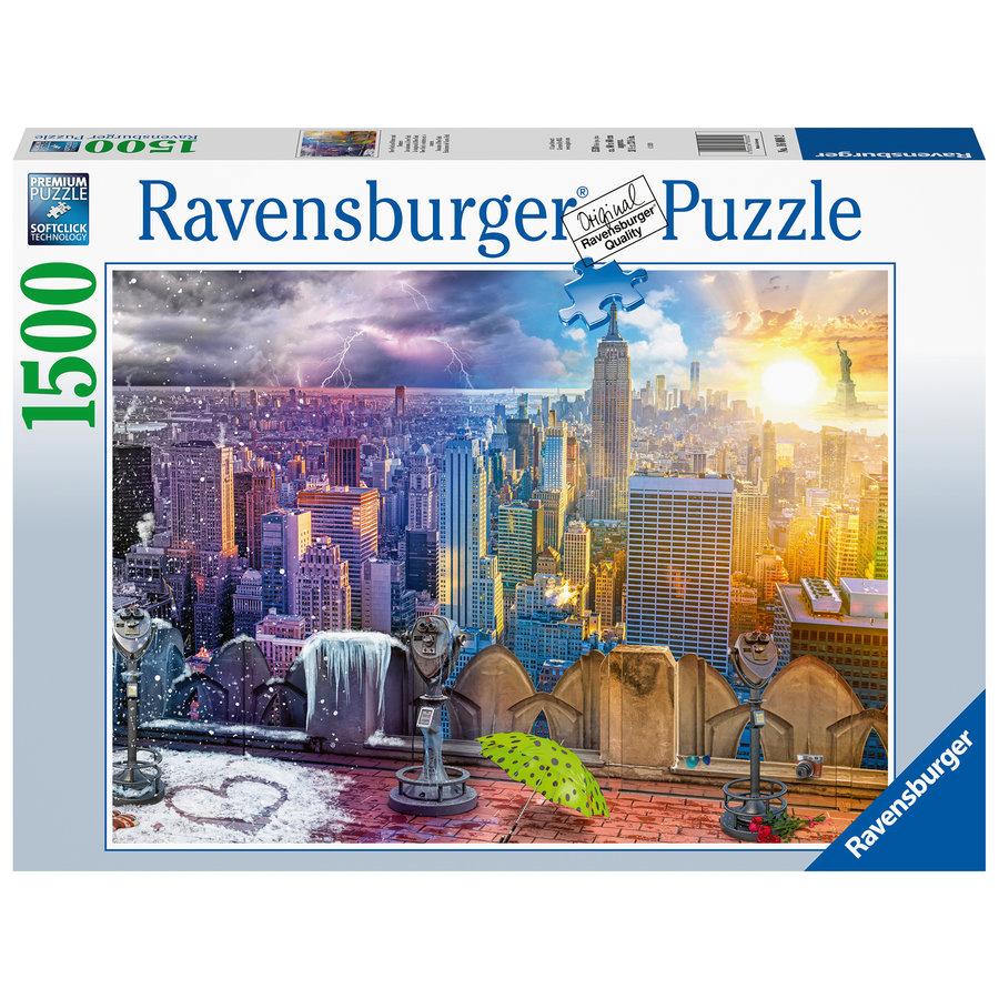 New York, winter en zomer - puzzel van 1500 stukjes-2