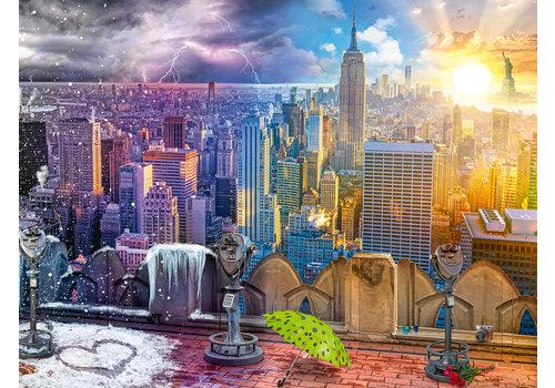 Ravensburger New York, hiver et été - 1500 pièces