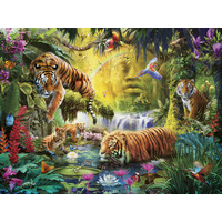 thumb-Idylle at the waterhole - puzzle of 1500 pieces-1