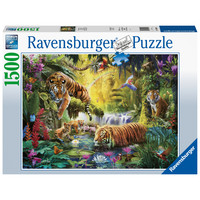 thumb-Idylle at the waterhole - puzzle of 1500 pieces-2