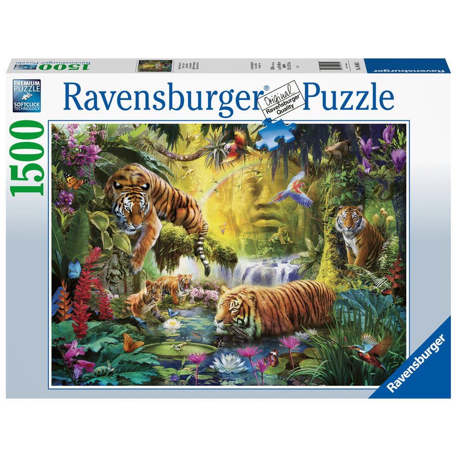 Idylle at the waterhole - puzzle of 1500 pieces-2