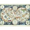 Ravensburger Wereldkaart met fantastische dieren- puzzel van 1500 stukjes
