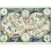 thumb-World map with fantastic animals - puzzle of 1500 pieces-1