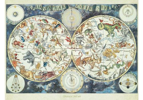 Ravensburger Carte du monde avec des animaux fantastiques - 1500 pièces