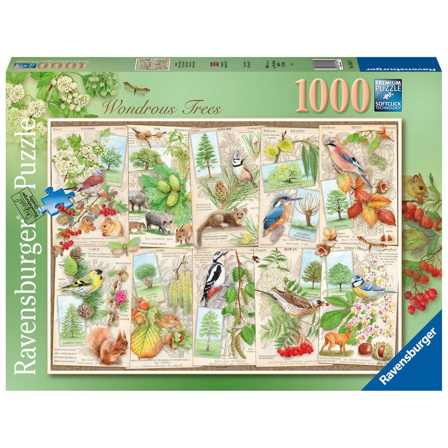 Les arbres merveilleux - puzzle de 1000 pièces-2