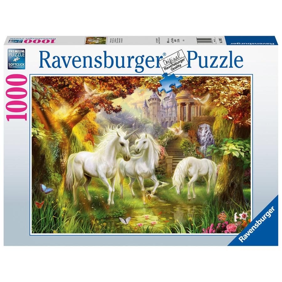Eenhoorns in de herfst - puzzel van  1000 stukjes-2