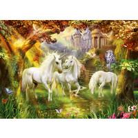 thumb-Licornes dans la forêt - puzzle de 1000 pièces-1