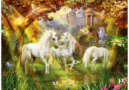 Unicorns in autumn  - 1000 pieces