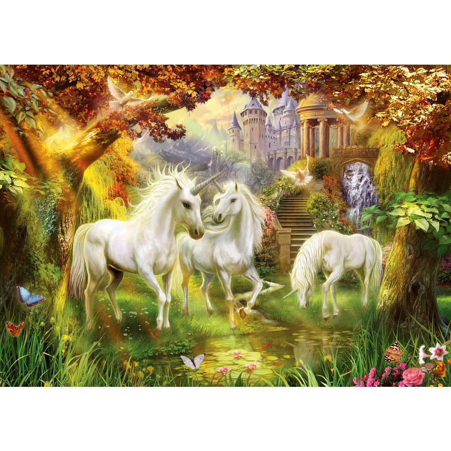 Licornes dans la forêt - puzzle de 1000 pièces-1