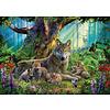 Ravensburger Famille de loups dans la forêt  - puzzle de 1000 pièces
