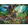 Ravensburger Wolvenfamilie in het bos - puzzel van  1000 stukjes