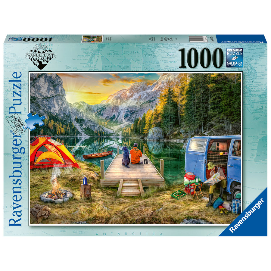 Calm Campsite - puzzel van  1000 stukjes-1