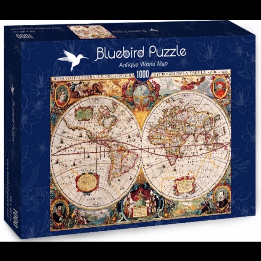 Antieke Wereldkaart - puzzel van 1000 stukjes-2