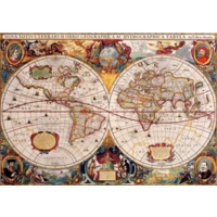 thumb-Antieke Wereldkaart - puzzel van 1000 stukjes-1