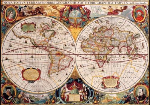 Bluebird Puzzle Antieke Wereldkaart - 1000 stukjes