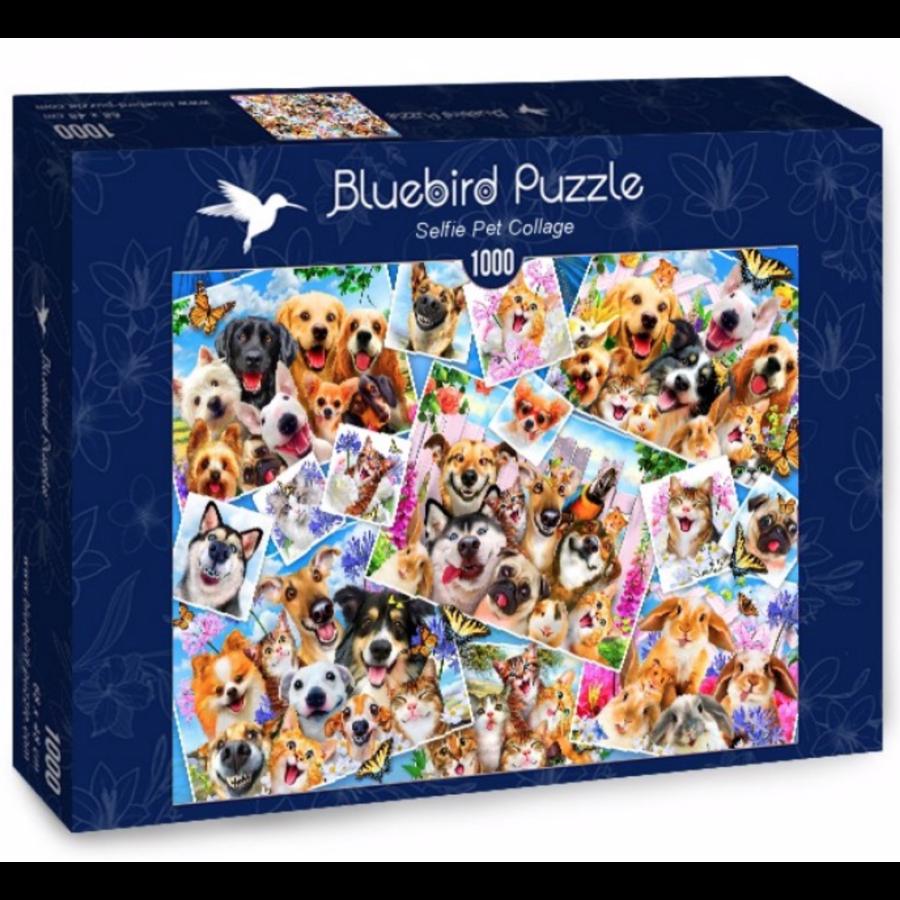 Collage de selfies d'animaux - puzzle de 1000 pièces-2