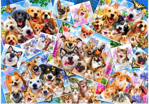 Collage de selfies d'animaux - 1000 pièces