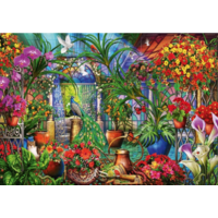 thumb-Tropical Green House - puzzle of 1000 pieces-1