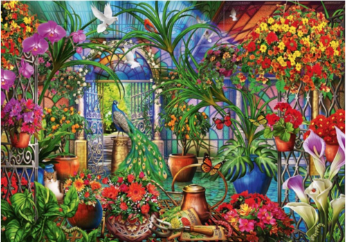 Bluebird Puzzle Tropical Green House - 1000 pieces