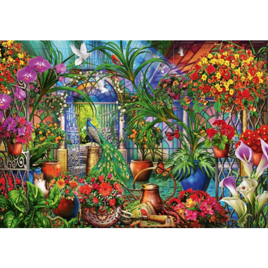 Tropical Green House - puzzle of 1000 pieces-1