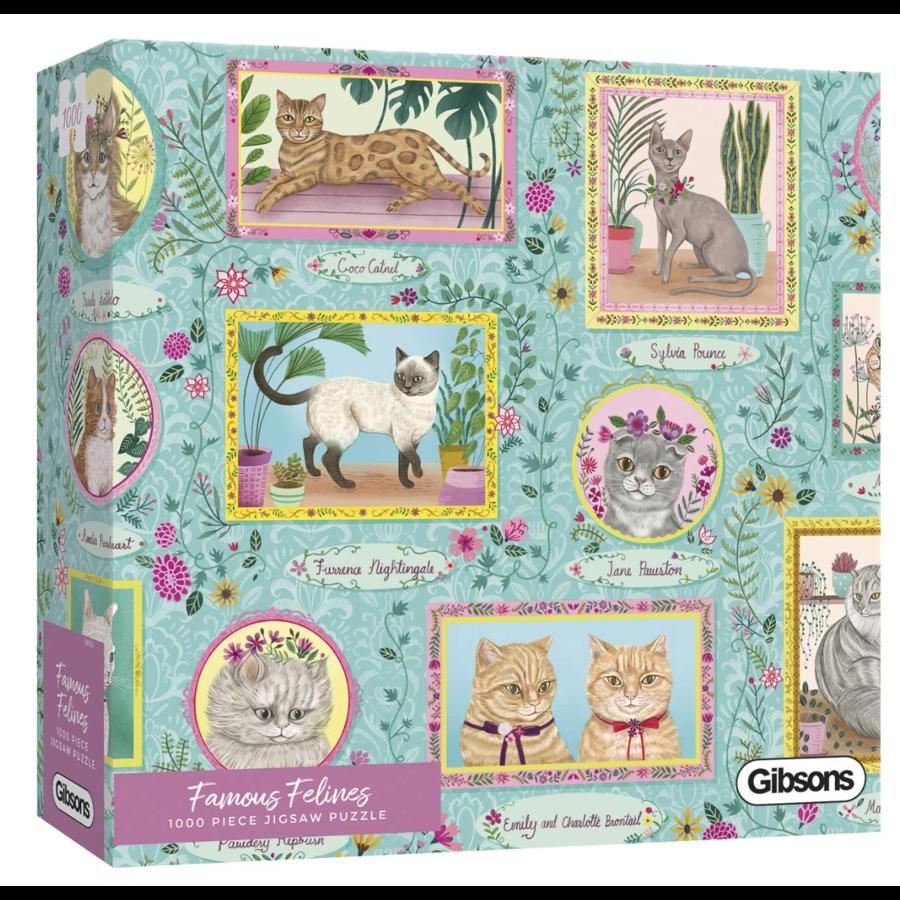Félins célèbres - puzzle de 1000 pièces-2