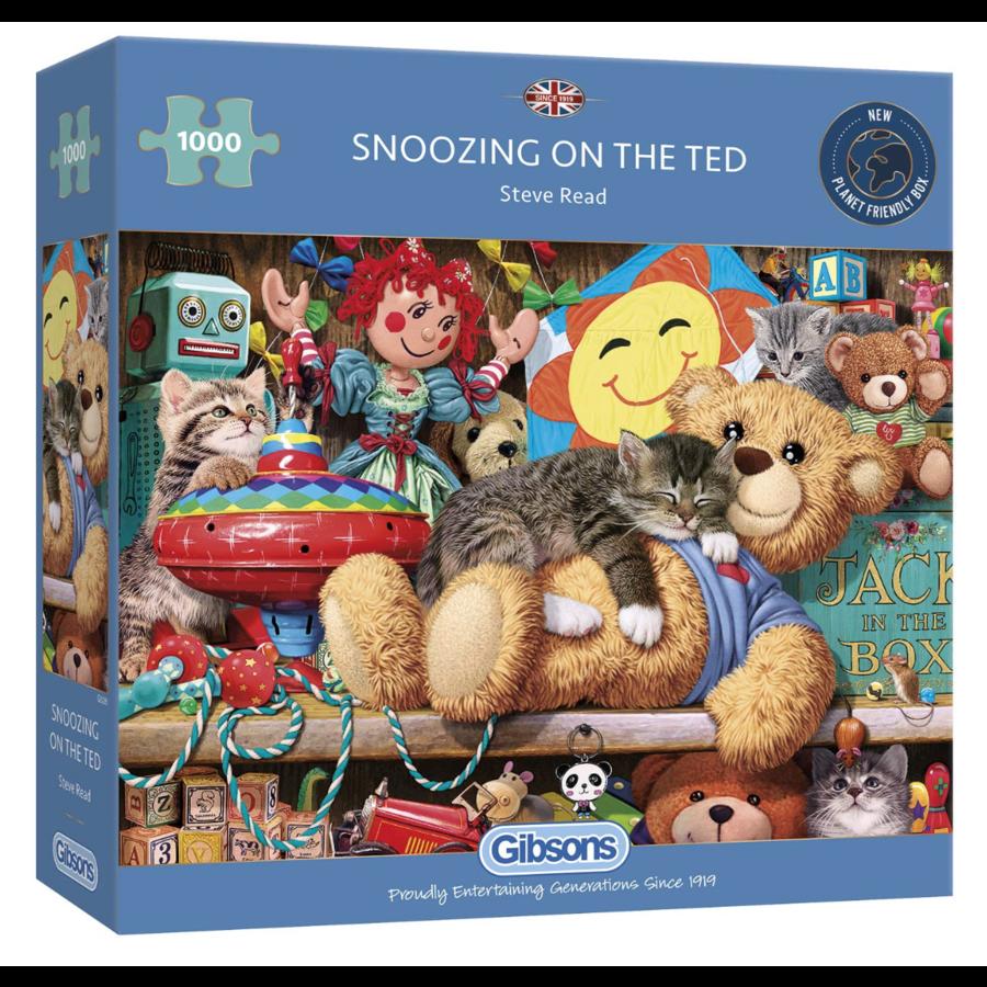 Een dutje op de beer - puzzel van 1000 stukjes-1