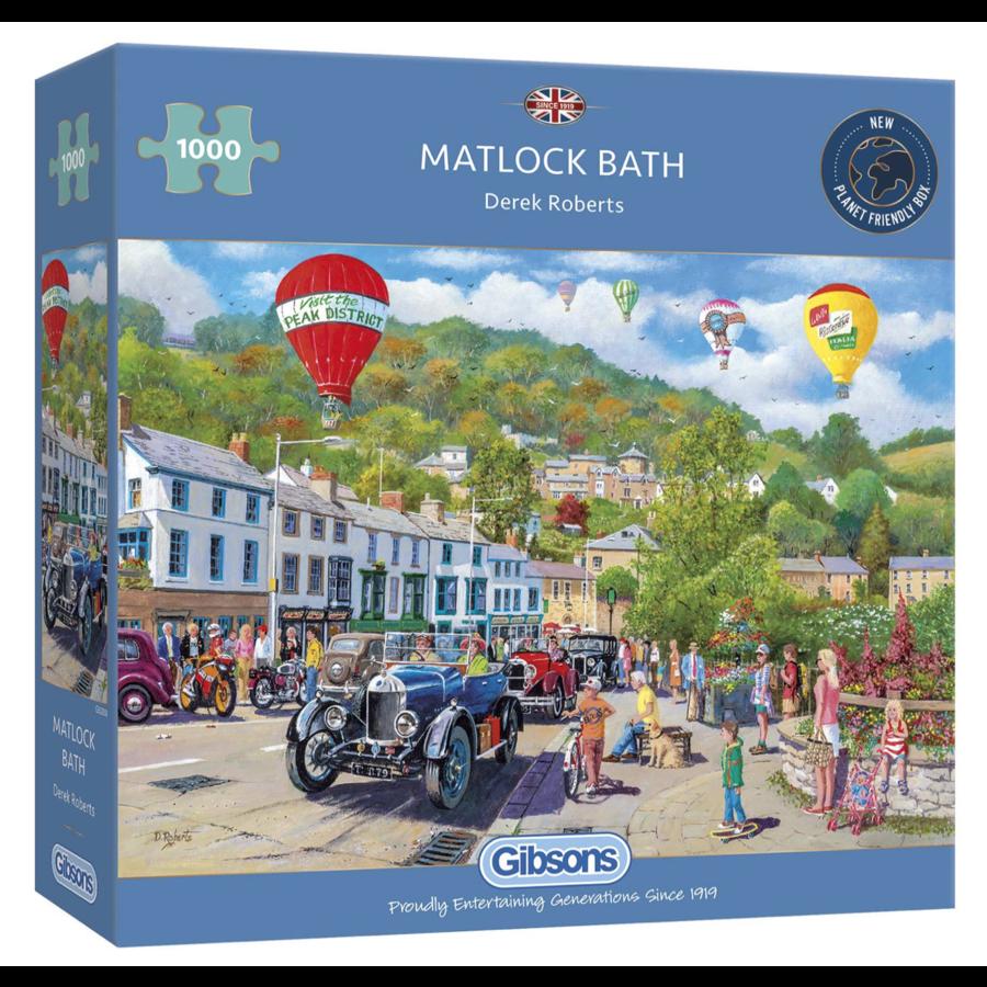 Oldtimers in Matlock Bath - puzzel van 1000 stukjes-1